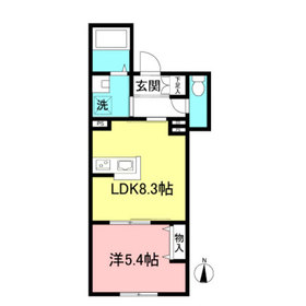 アルテジオEBISU1階Fの間取り画像