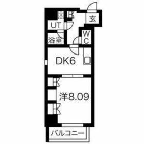 スパシエ・エル新横浜8階Fの間取り画像