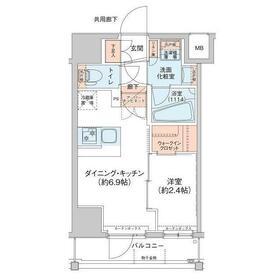 アジールコート新高円寺7階Fの間取り画像