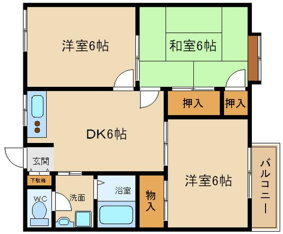 お部屋が3部屋あります!