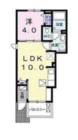 ドエルST1階Fの間取り画像