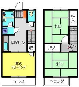 ハイム鈴木2階Fの間取り画像