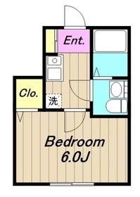 KAZE2階Fの間取り画像
