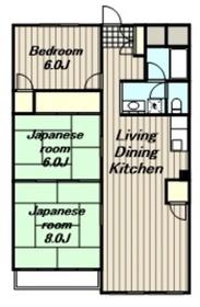 本厚木駅 徒歩33分6階Fの間取り画像