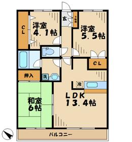 グランシャリオ壱番館4階Fの間取り画像
