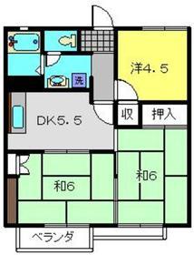 シャトレーヤマダR2階Fの間取り画像