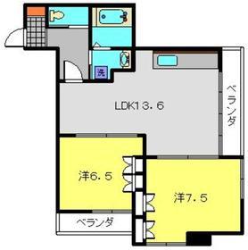 雅ビルド3階Fの間取り画像