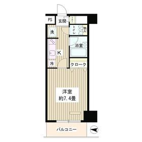グラン・パァレ17階Fの間取り画像