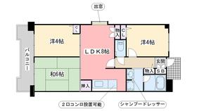 G−ONE姪浜駅南EAST4階Fの間取り画像