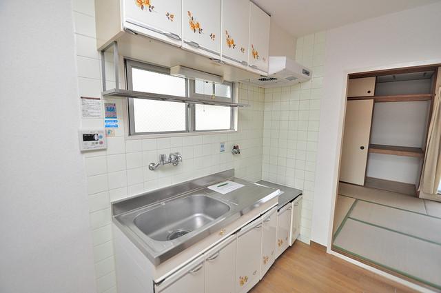 ファミーユ和喜 大きなキッチンはお料理の時間を楽しくしてくれます。