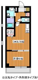 ボナールコート2階Fの間取り画像