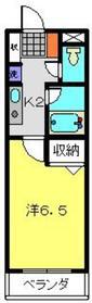 すみれマンション1階Fの間取り画像