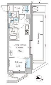 西馬込駅 徒歩9分5階Fの間取り画像