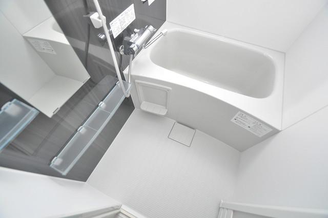 セゾンクレアスタイル新今里 広めのお風呂は一日の疲れを癒してくれます。