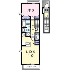 A LA MODE アラモード2階Fの間取り画像