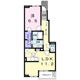アバンサール1階Fの間取り画像
