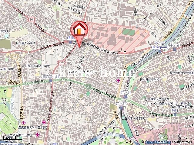 レジディア四谷三丁目案内図