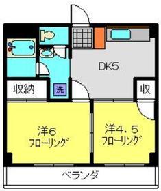 武蔵中原駅 徒歩4分2階Fの間取り画像