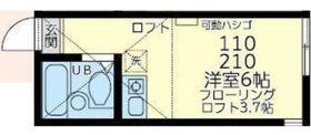 ユナイト鶴見エリック・クラプトン2階Fの間取り画像