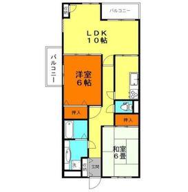 ライフステージ桜6階Fの間取り画像