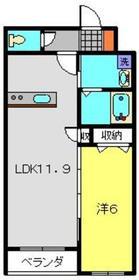 K`Flats1階Fの間取り画像