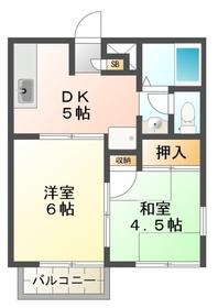 フジミグリーンホーム2階Fの間取り画像
