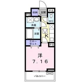 グラン トレゾールⅡ1階Fの間取り画像