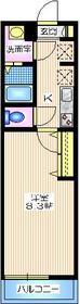 メゾン プレジール2階Fの間取り画像
