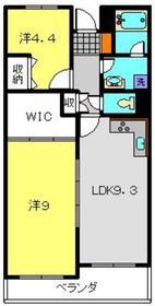 二俣川ハイツ3階Fの間取り画像
