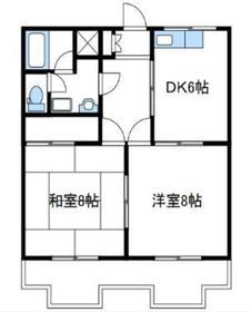 グレイシャスマンション3階Fの間取り画像