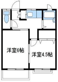 ハウスオブミーナ2階Fの間取り画像