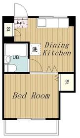 TREマンション3階Fの間取り画像