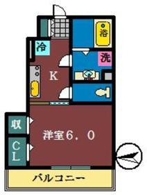ボア・ボヌール1階Fの間取り画像