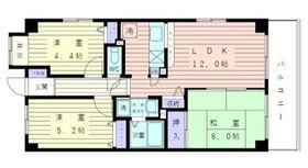 グランドヒルズ2階Fの間取り画像
