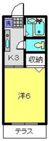 イナミハイツⅢ1階Fの間取り画像