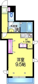 ユニゾン イースト2階Fの間取り画像