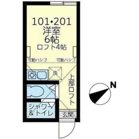 西横浜駅 徒歩15分2階Fの間取り画像
