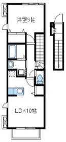 メイプルⅡ2階Fの間取り画像