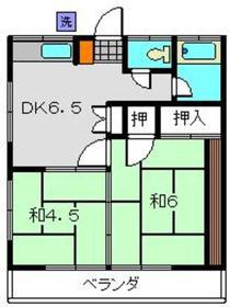 桜荘2階Fの間取り画像