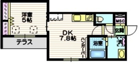 (仮称)川崎市幸区紺屋町メゾン21階Fの間取り画像