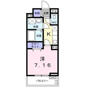 グラン トレゾールⅡ2階Fの間取り画像