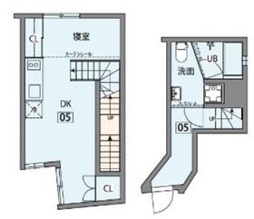神楽坂薫木荘1階Fの間取り画像