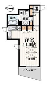 中村橋駅 徒歩5分2階Fの間取り画像