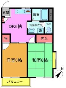 市川駅 徒歩19分2階Fの間取り画像