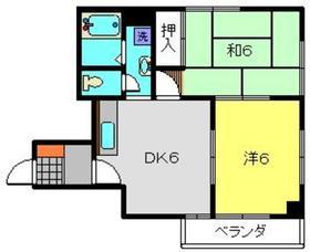 第10Z西村ビル7階Fの間取り画像
