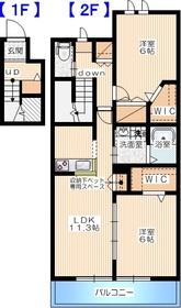 戸塚駅 バス20分「貝殻坂」徒歩2分2階Fの間取り画像