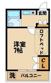 コートビレッジ桜ヶ丘パート21階Fの間取り画像