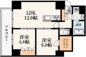 三鷹駅 徒歩5分4階Fの間取り画像