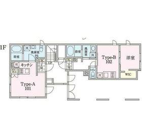 MDM阿佐ヶ谷3階Fの間取り画像