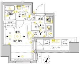 セジョリ横浜ウエスト10階Fの間取り画像